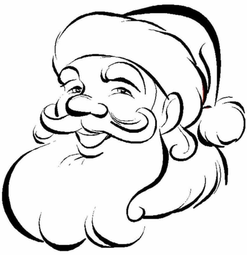 Санта клаус Раскраска зима пришла