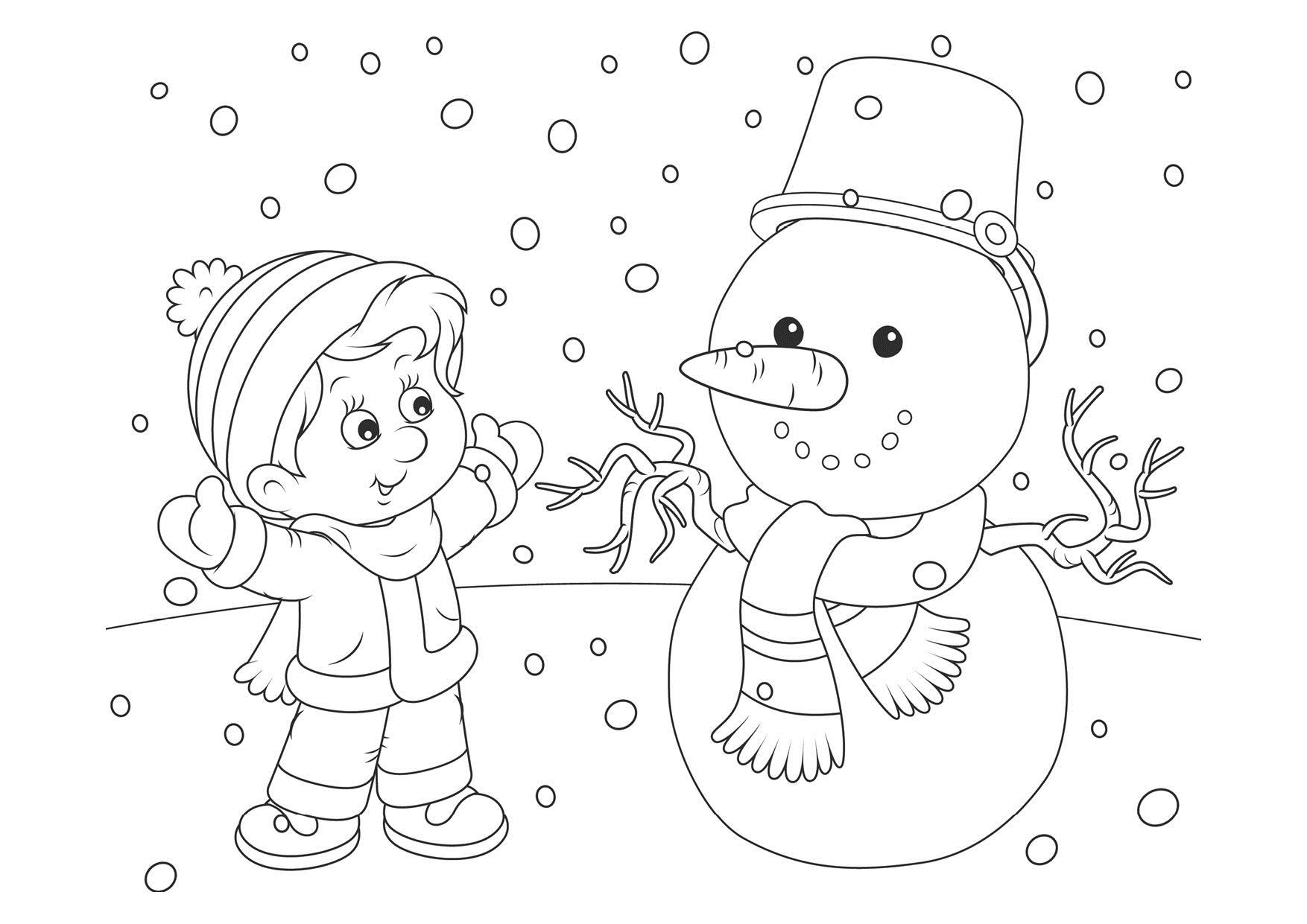 Картинка о зиме раскраска