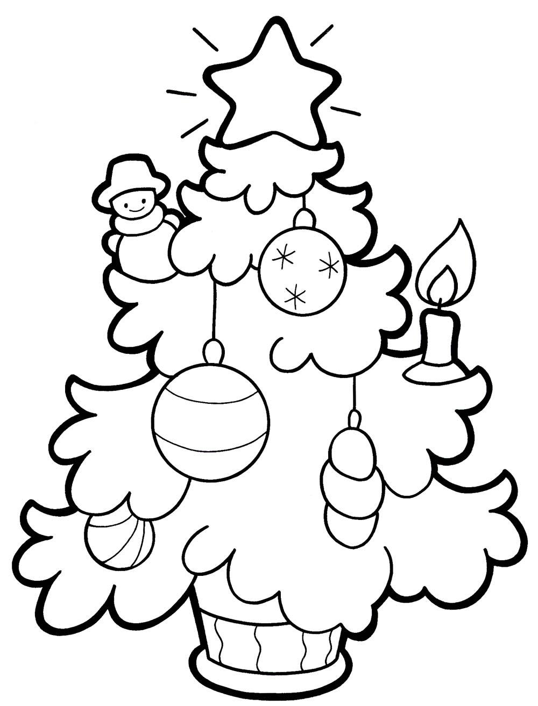 Наряженная елочка Зимние раскраски для мальчиков