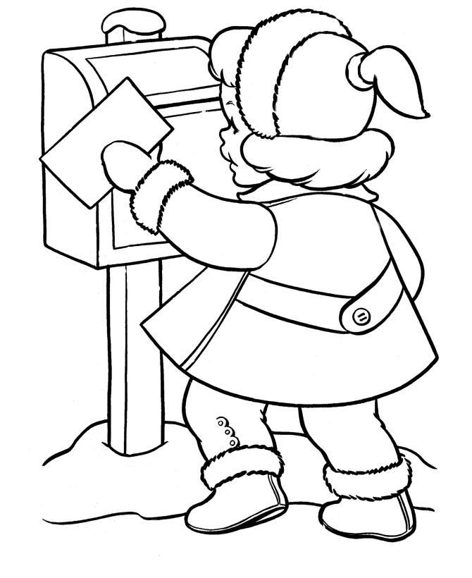 Письмо деду морозу Раскраски зимушка зима