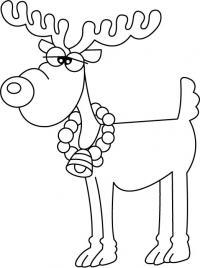 Забавный олень Раскраски зимушка зима