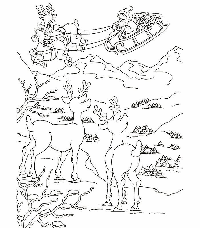 Сказка про санту Раскраски зимушка зима