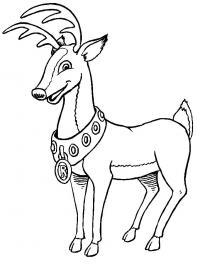 Олень рудольф из сказки Раскраски зимушка зима