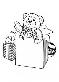 Мягкий медвежонок в подарок Раскраски зимушка зима