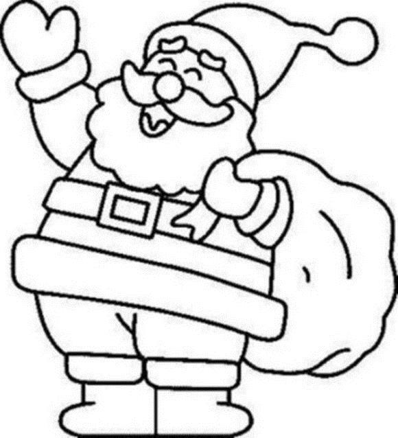 Дед мороз смеется Раскраска зима пришла