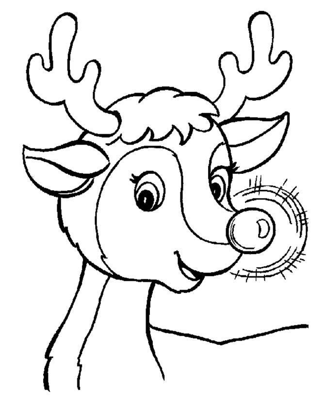 Олень рудольф с горящим носом Раскраски зимушка зима