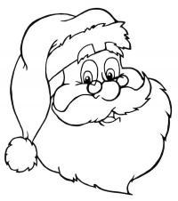 Дед мороз в очках Раскраска зима пришла