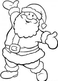 Дед мороз пляшет Раскраска зима пришла
