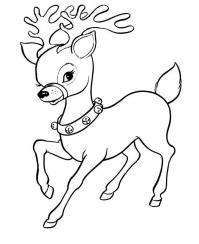 Веселый олененок Раскраски зимушка зима