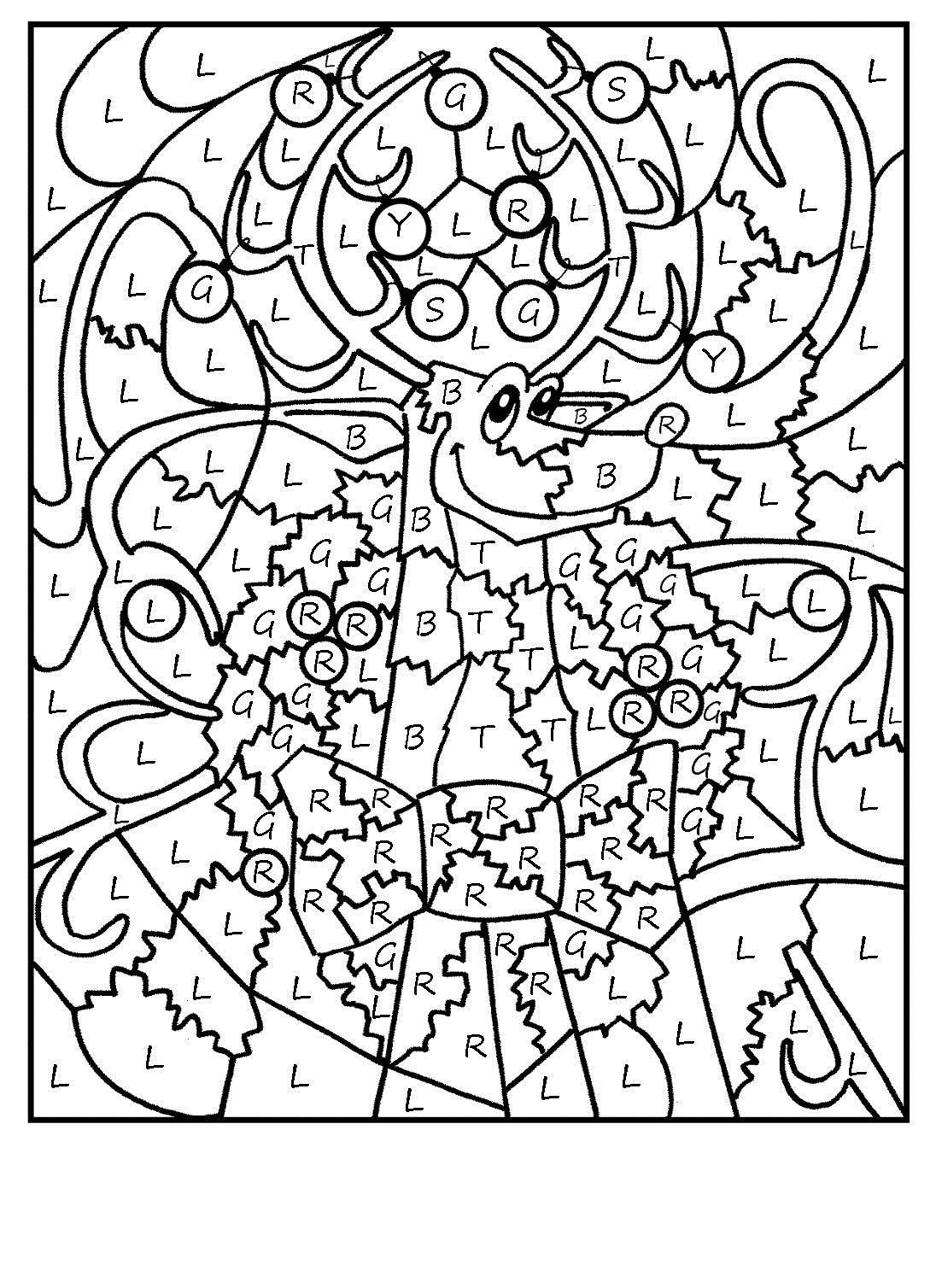 Олень Раскраски зимушка зима