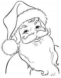 Добрый дед мороз Раскраска зима пришла