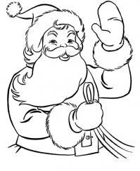Дед мороз с наилучшими пожеланиями нового года Раскраска зима пришла