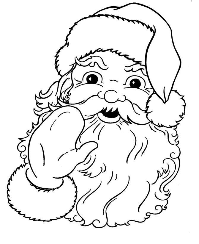 Дед мороз машет рукой Раскраска зима пришла