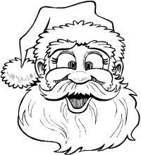 Дед мороз забавный Раскраска зима пришла