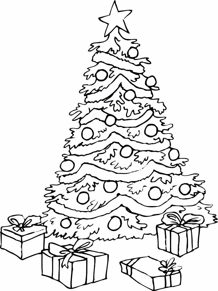 Новогодняя елка Раскраски на тему зима