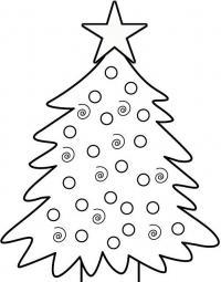 Новогодняя елка украшенная игрушками Раскраски на тему зима