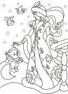 Зима снегурочка с белочкой Раскраски зима скачать бесплатно