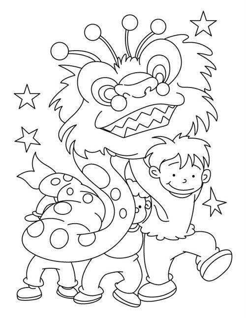 Мальчишки в костюме дракона Раскраски про зиму для детей