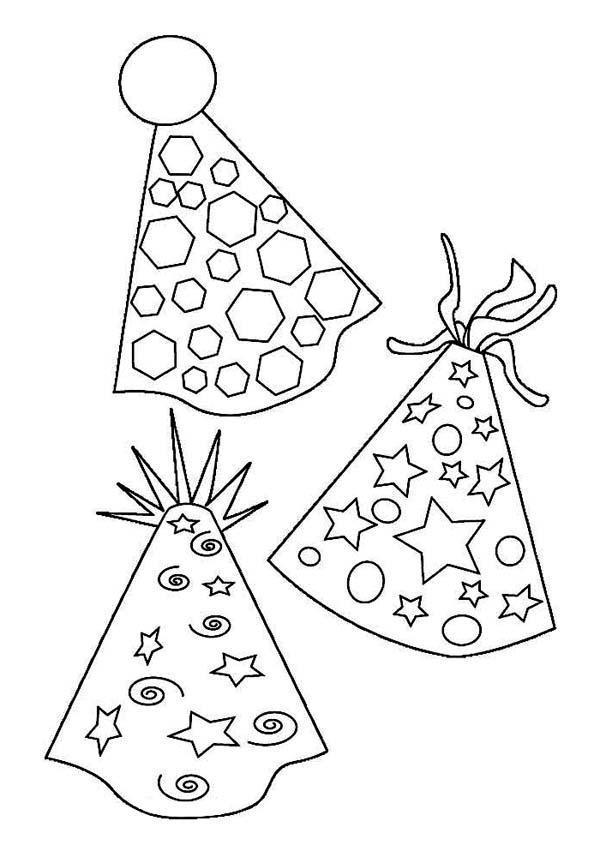 Новогодние шапочки Раскраски про зиму для детей