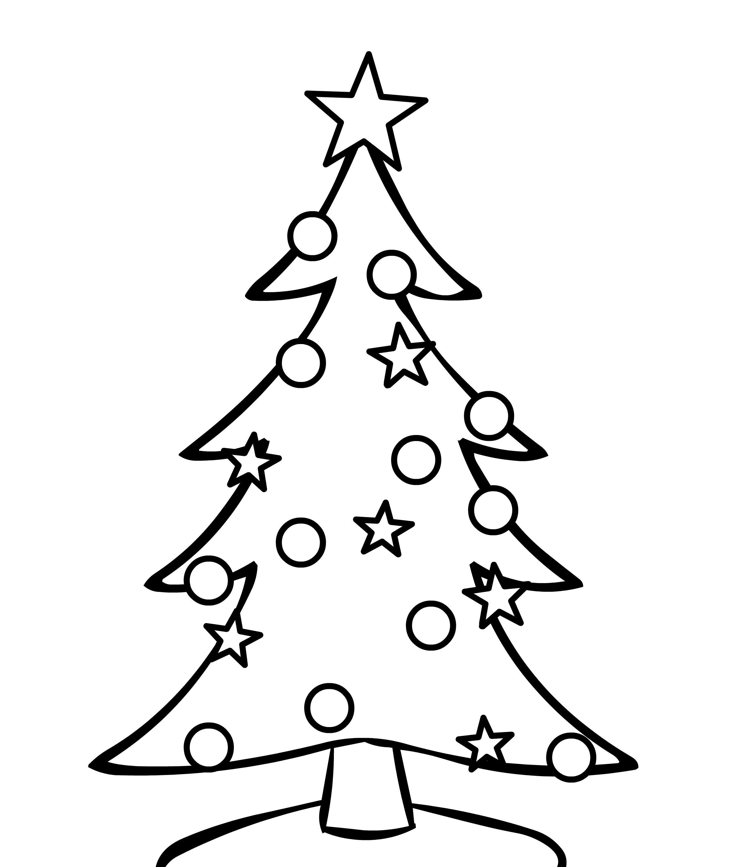 Наряженая на улице новогодняя елка Раскраски на тему зима