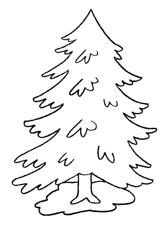 Просто елочка Раскраски на тему зима