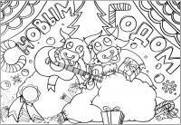 Плакаты, бычки играющие на гитаре Детские раскраски зима распечатать