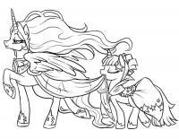 Май литл пони принцессы Детские раскраски зима распечатать