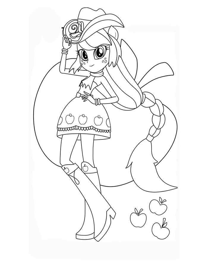 Девочка в косюме май литл пони Детские раскраски зима распечатать
