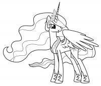 Май литл пони с крыльями принцесса Детские раскраски зима распечатать