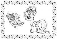 Май литл пони для поздравительных открыток Детские раскраски зима распечатать