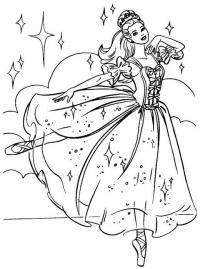 Новый год, танцующая принцесса Раскраски про зиму для детей