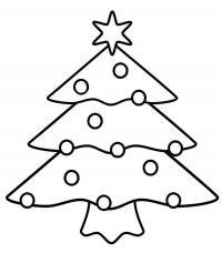 Новый год, елочка Раскраска сказочная зима