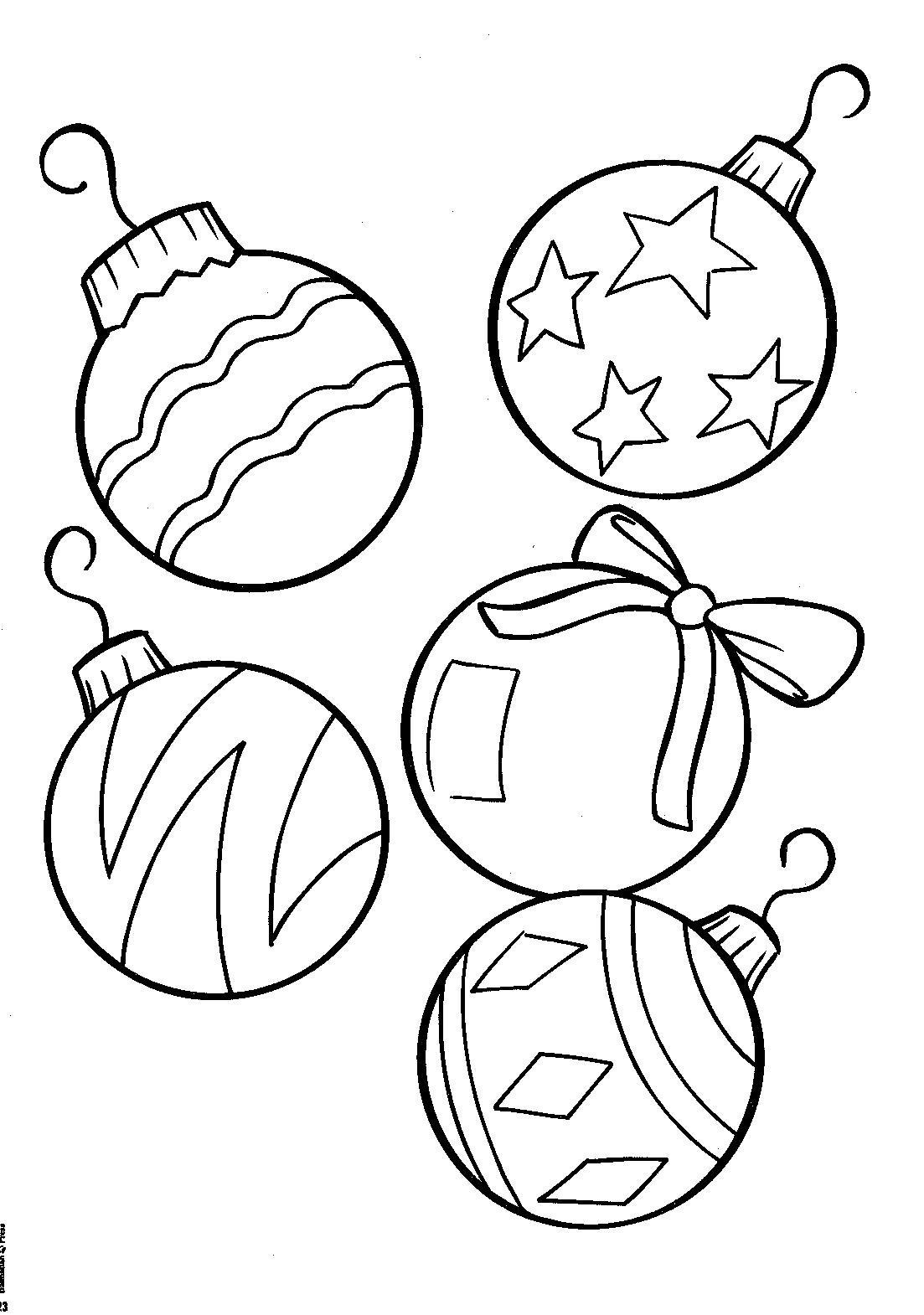 Раскраска новогодних шаров распечатать для детей