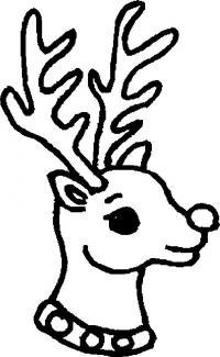 Новый год, голова оленя Зимние рисунки раскраски
