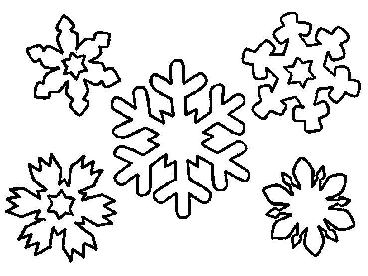 Шаблоны снежинки скачать