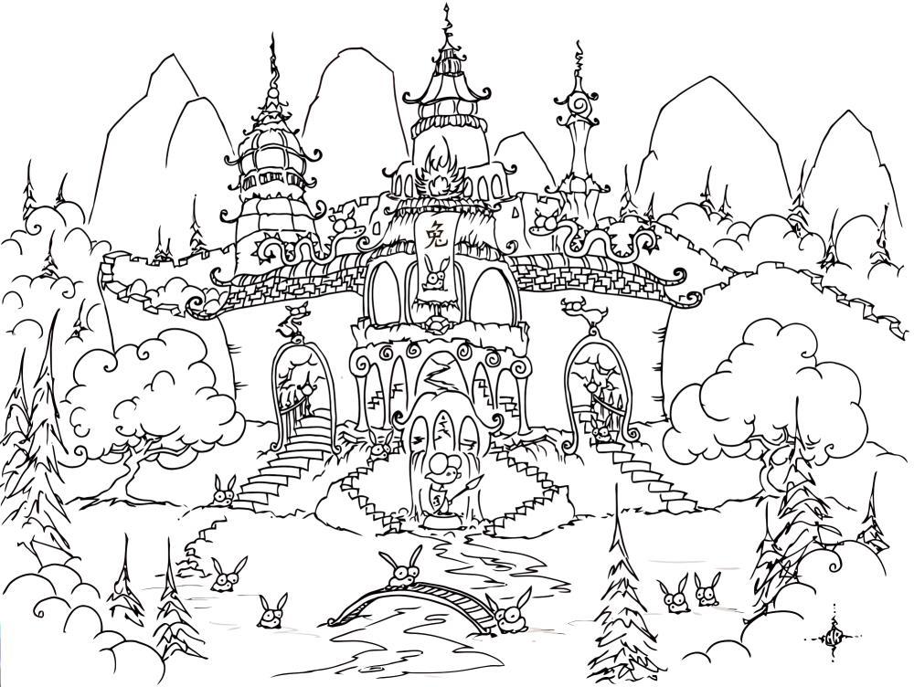 Ледовый дворец Зимние раскраски для мальчиков