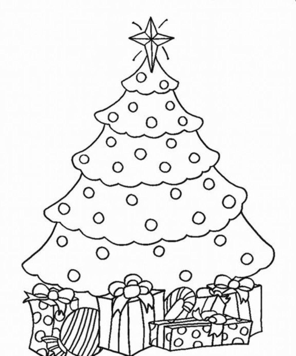 Елка с подарками Раскраски на тему зима
