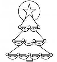 Наряженная елка Раскраска сказочная зима