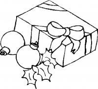Подарки и шары Раскраска сказочная зима
