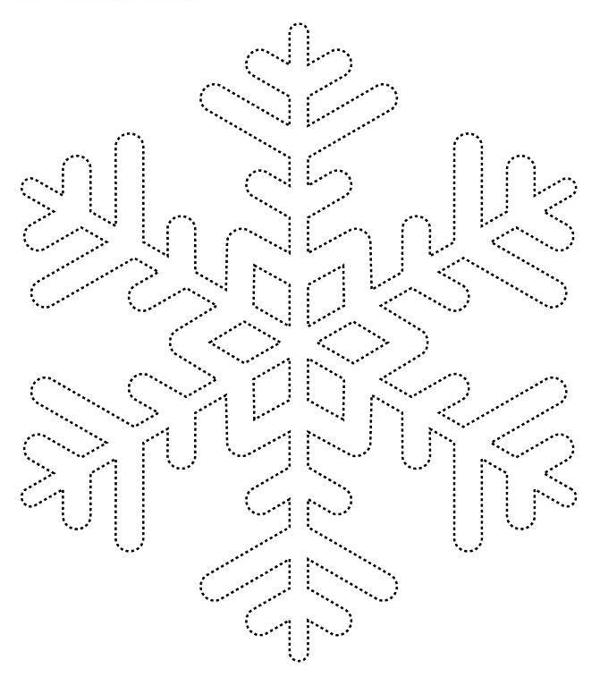 Снежинки Зимние рисунки раскраски