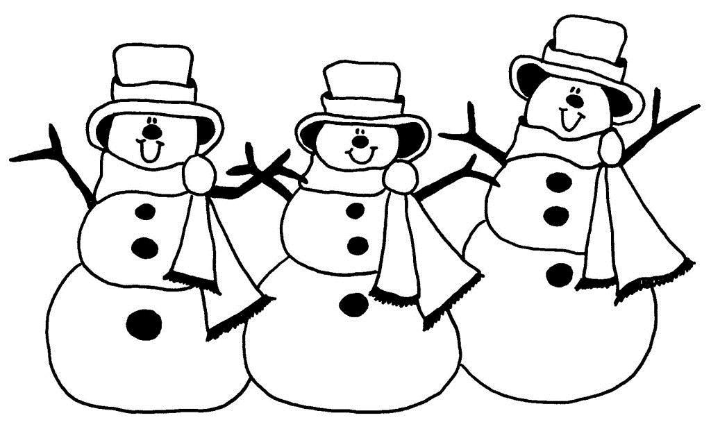 Танцующие снеговики Раскраски на тему зима