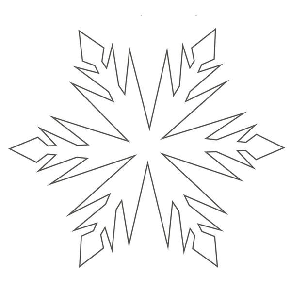 Снежинки Раскраски для детского сада