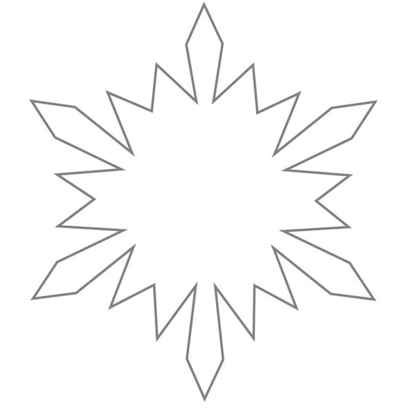 Только контур снежинки Раскраски для детского сада