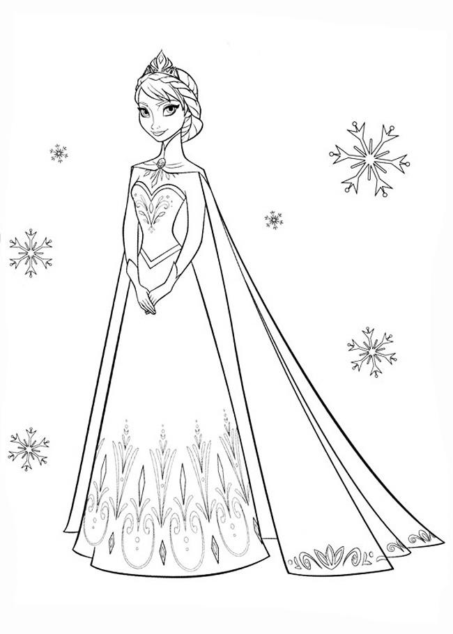В хороводе снежинок, холодное сердце Раскраски зимушка зима