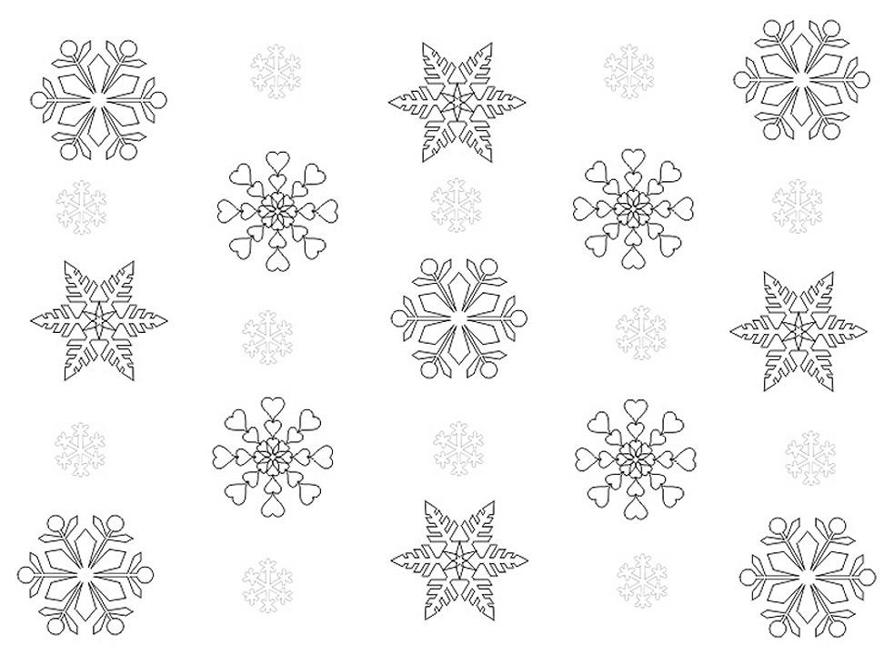 Разные снежинки Раскраски для детского сада