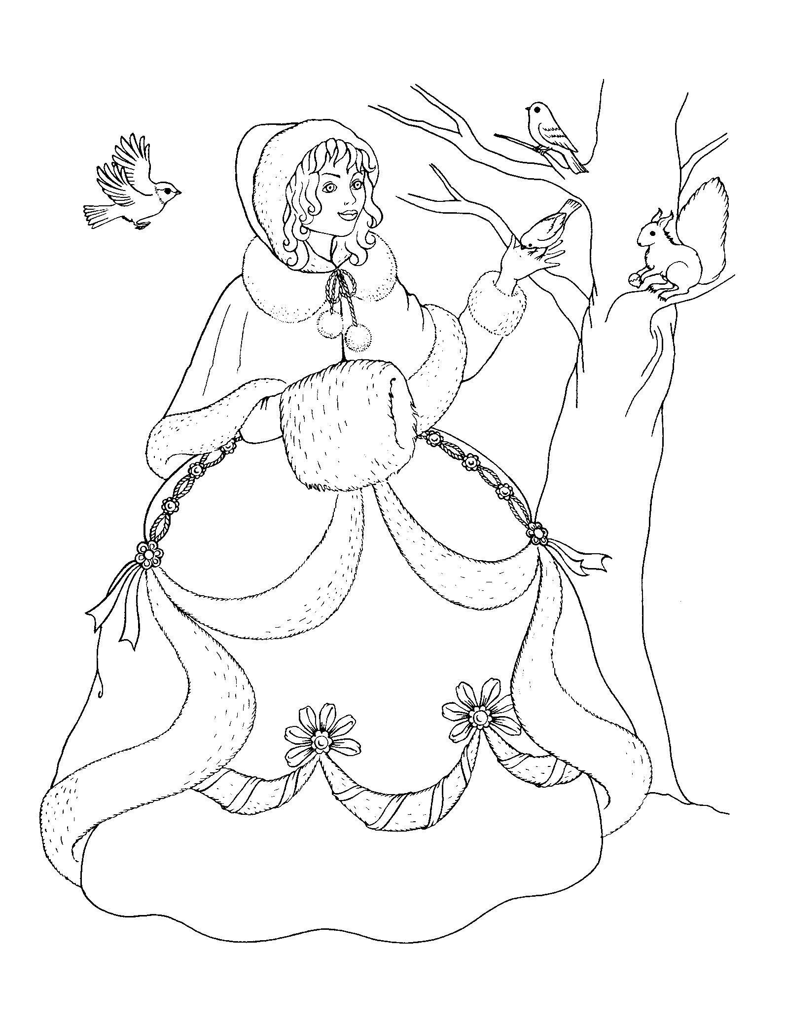 Королева зима Зимние раскраски для мальчиков