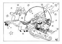 Новый год Детские раскраски зима распечатать