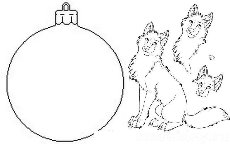 Раскраска новогодних шаров своими руками 54