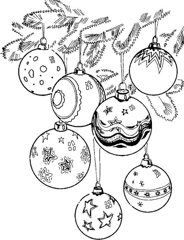 Шары на елочной веточке Зимние раскраски для мальчиков