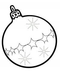 Шарик со звездочками и снежинками Зимние раскраски для мальчиков